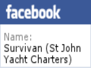 Leads to St John Yacht Charters and the sailing vessel Survivan's  Facebook page