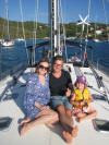 posing for a nice family photo on the sailing vessel Survivan