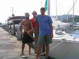 St john sailing crew in Trinidad after hurricane Ivan